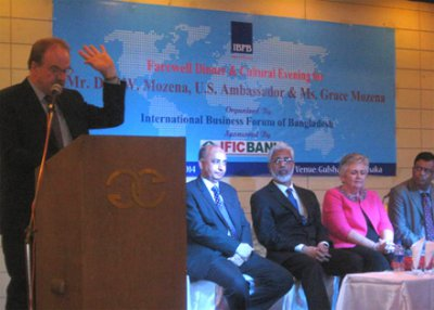 """Good governance is a major concern for Bangladesh's development"", U.S. Ambassador in IBFB's Farewell Dinner"