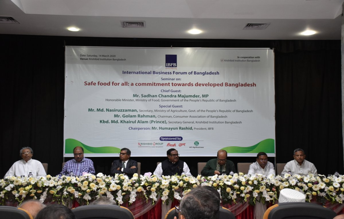 "Seminar on ""Safe food for all: a commitment towards developed Bangladesh"""